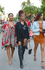 KEKE PALMER and Friends Out in Miami Beach 12/31/2016