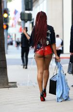 KEKE PALMER in SHorts Out Shopping in Los Angeles 01/07/2017