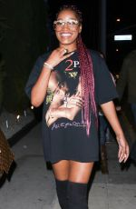 KEKE PALMER Night Out in West Hollywood 01/06/2017