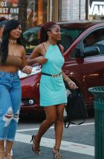 KEKE PALMER Out for Dinner at Puerto Sagua Restraurant in Miami Beach 01/01/2017