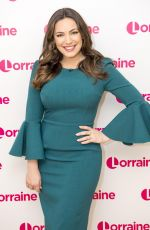 KELLY BROOK on the Set of Lorraine TV Show in London 01/27/2017