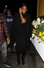 KELLY ROWLAND Leaves a Dinner in West Hollywood 01/21/2017