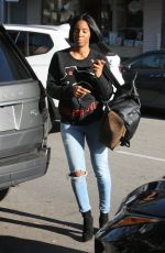 KELLY ROWLAND Out and About in Beverly Hills 01/14/2017