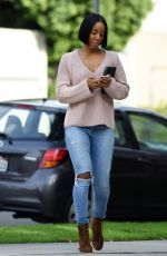 KELLY ROWLAND Out and About in Beverly Hills 01/15/2017