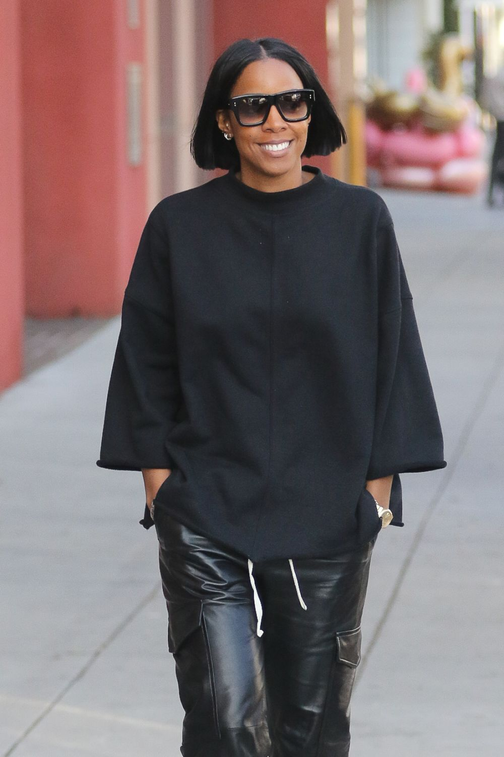 KELLY ROWLAND Out for Lunch in West Hollywood 01/16/2017