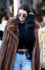 KENDALL JENNER and A$AP Rocky Out in Paris 01/22/2017