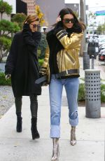 KENDALL JENNER and HAILEY BALDWIN Out in West Hollywood 01/02/2017