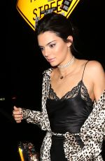 KENDALL JENNER Arrives at Nice Guy to Ring in The New Year 2017 in West Hollywood 12/31/2016
