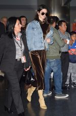 KENDALL JENNER at JFK Airport in New York 01/12/2017