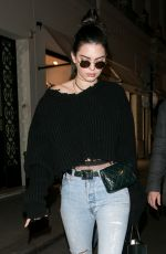 KENDALL JENNER Leaves Chanel Showroom in Paris 01/22/2017
