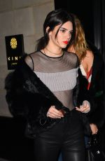 KENDALL JENNER Nght Out in Paris 01/20/2017