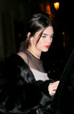KENDALL JENNER Night Out in Paris 01/20/2017
