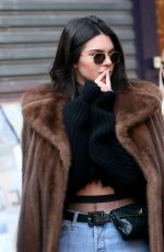 KENDALL JENNER Out and About in Paris 01/22/2017