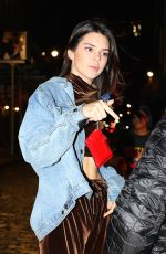 KENDALL JENNER Out in New York 12/01/2016