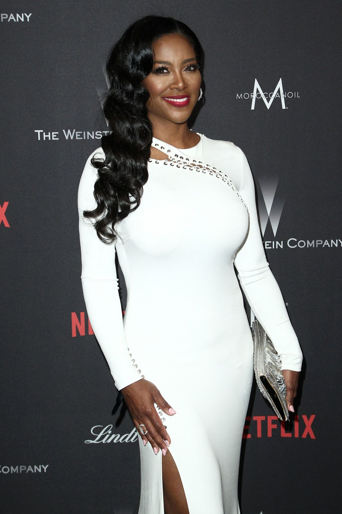 KENYA MOORE at Weinstein Company and Netflix Golden Globe Party in Beverly Hills 01/08/2017