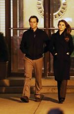 KERI RUSSELL and Matthew Rhys on the Set of