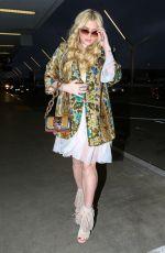 KESHA SEBERT at LAX AIrport in Los Angeles 01/05/2017