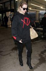 KHLOE KARDASHIAN at LAX Airport in Los Angeles 01/05/2017