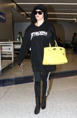KHLOE KARDASHIAN at LAX Airport in Los Angeles 12/23/2016