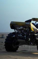 KIM KARDASHIAN Goes ATV Riding in the Desert in Dubai 01/15/2017