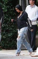 KIM KARDASHIAN in Ripped Jeans Out in Beverly Hills 01/04/2017