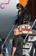KIM KARDASHIAN Leaves a Private Jet in Los Angeles 01/17/2017