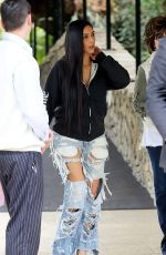 KIM KARDASHIAN Leaves Bel Air Hotel in Los Angeles 01/04/2017