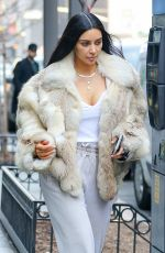 KIM KARDASHIAN Out for Lunch in New York 01/16/2017