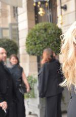 KIRSTEN DUNST Leaves Her Hotel in Paris 01/23/2017