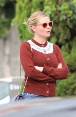 KIRSTEN DUNST Out and About in Los Angeles 01/13/2017