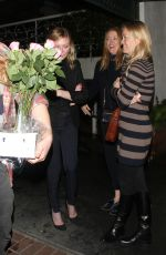 KIRSTEN DUNST Out for Dinner in West Hollywood 01/04/2017
