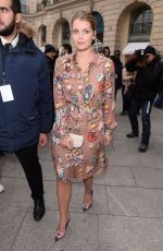 KITTY SPENCER Arrives at Schiapparelli Fashion Show in Paris 01/23/2017
