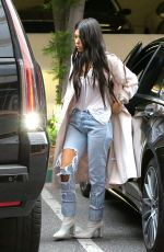 KOURTNEY KARDASHIAN in Ripped Jeans Out in Calabasas 01/03/2017