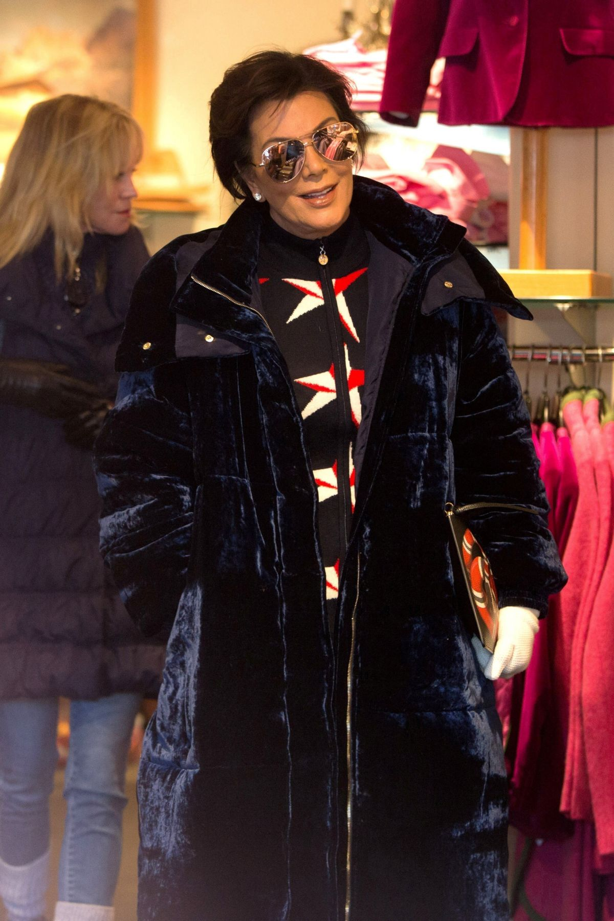 KRIS JENNER Out for Shopping in Aspen 12/30/2016