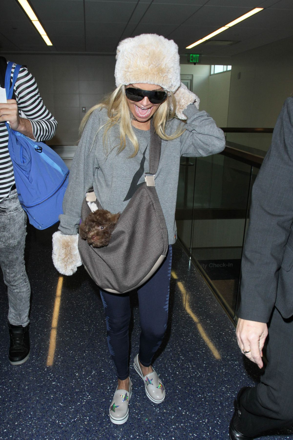 KRISTIN CHENOWETH at LAX Airport in Los Angeles 01/13/2017