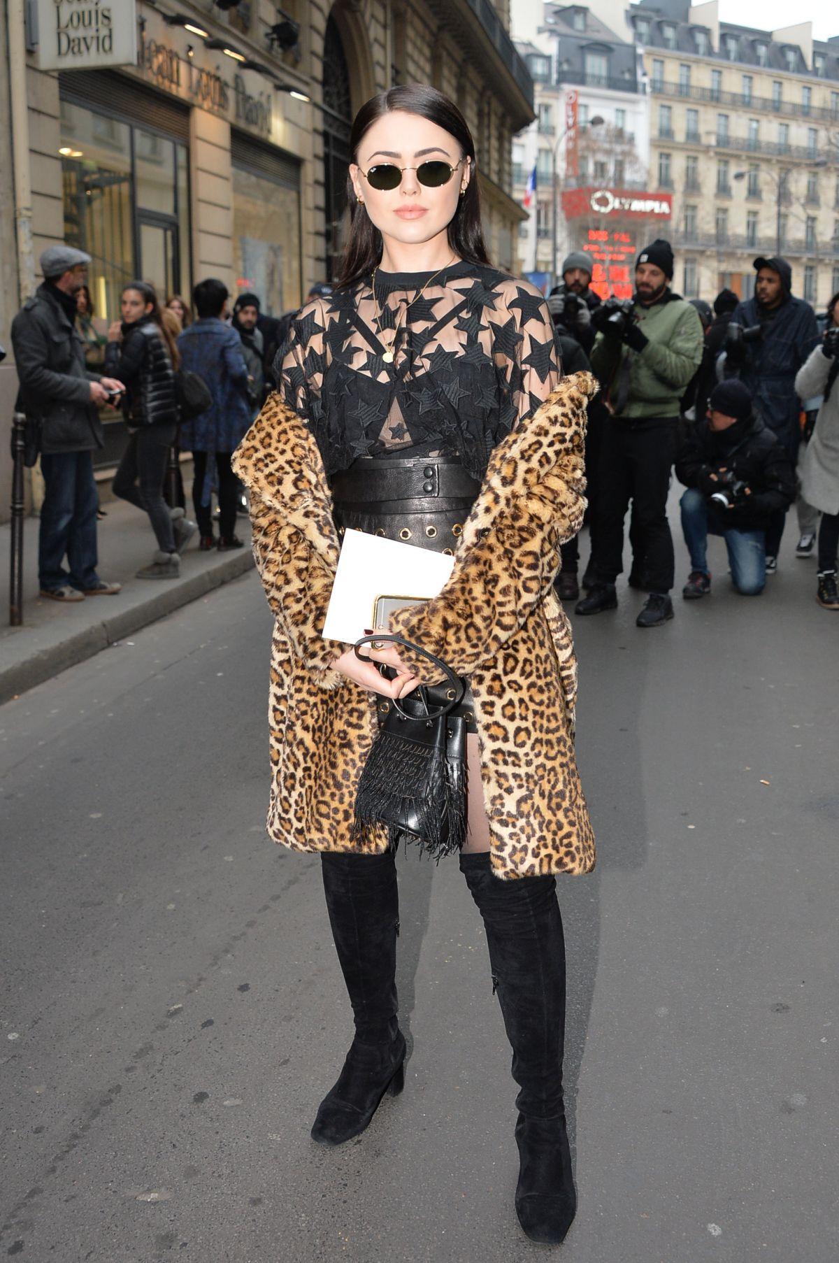 KRISTINA BAZAN at Elie Saab Fashion Show in Paris 01/25/2017