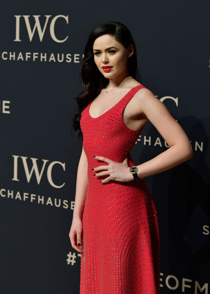 KRISTINA BAZAN at IWC Schaffhausen Decoding the Beauty of Time Gala Dinner in Geneva 01/17/2017