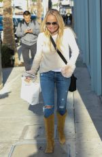 KRISTINA CHENOWETH in Jeans Out in Beverly Hills 01/11/2017