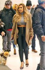 KRISTINIA DEBARGE Leaves SiriusXM Studios in New York 01/07/2016