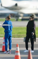 KYLIE JENNER and HAILEY BALDWIN at Airport in Van Nuys 01/18/2017