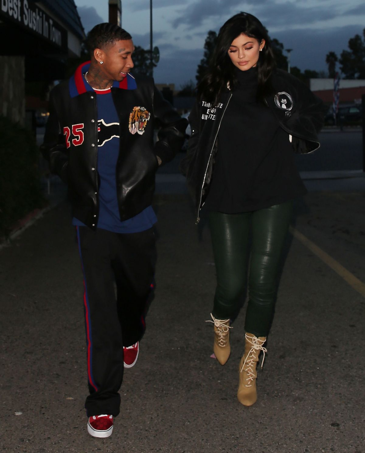 kylie jenner and tyga leaves kabuki restaurant in los angeles 01