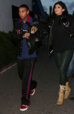 KYLIE JENNER and Tyga Leaves Kabuki Restaurant in Los Angeles 01/11/2017