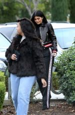 KYLIE JENNER in a Givenchy Pants Out in Calabasas 01/05/2017