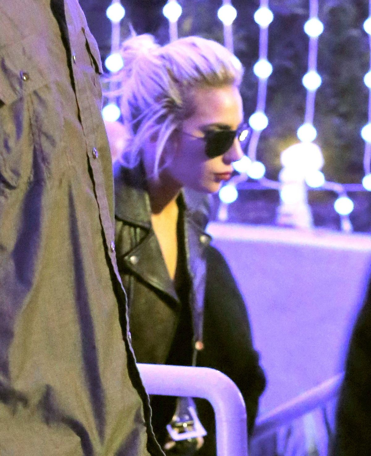 LADY GAGA Arrives at The Kings of Leon Concert in Inglewood 01/28/2017