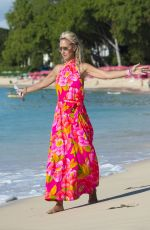 LADY VICTORIA HERVEY on Vacation in Barbados 01/01/2017