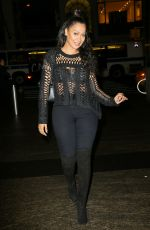 LALA ANTHONY Out for Dinner at Nobu in New York 01/12/2017