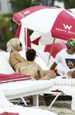 LARSA PIPPEN in Bikini on the Beach in Miami 01/06/2017