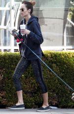 LAURA VANDERVOORT in Leggings Walks Her Dog Out in West Hollywood 01/26/2017