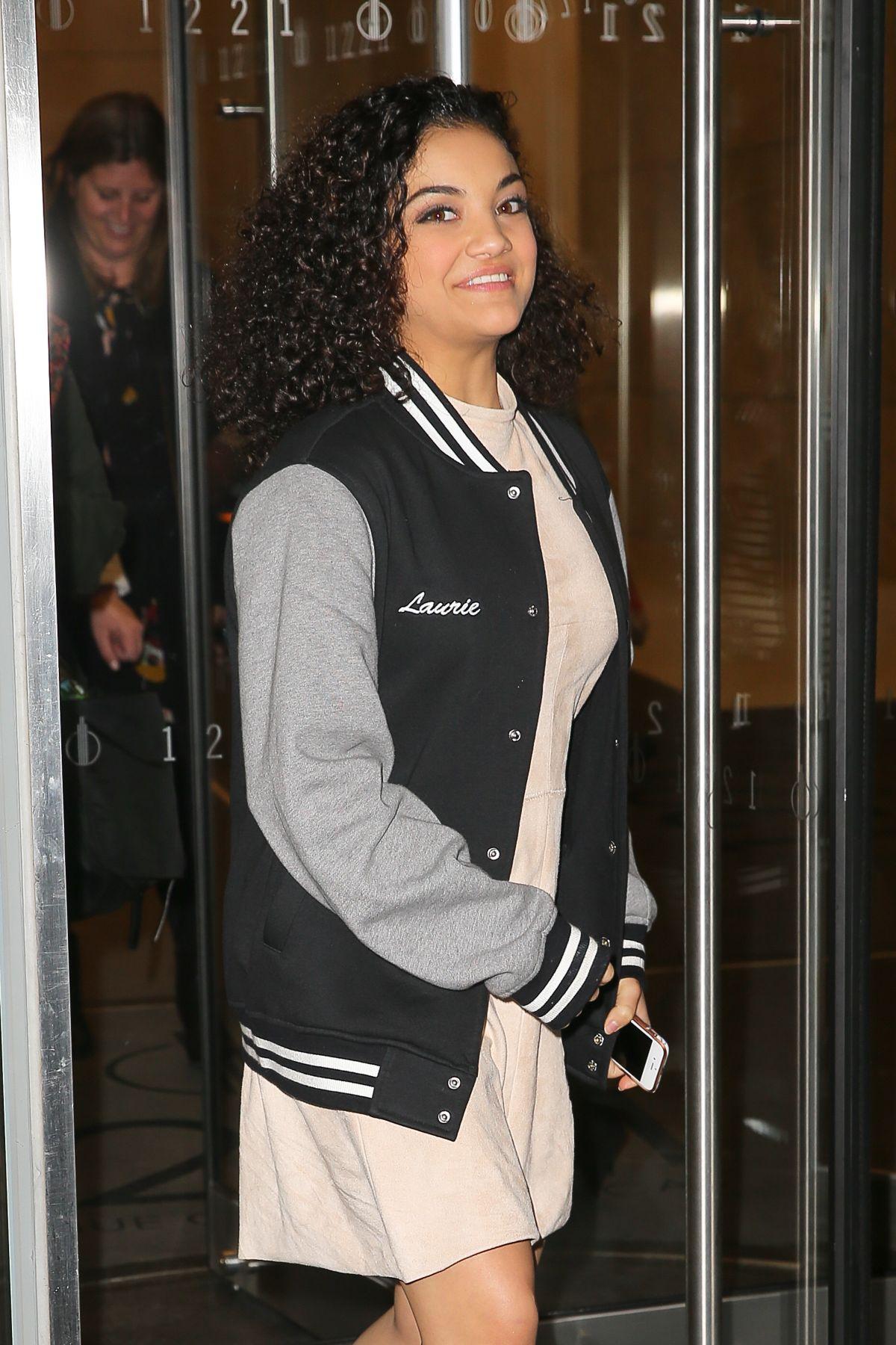 LAURIE HERNANDEZ Leaves SiriusXM Radio in New York 01/23/2017