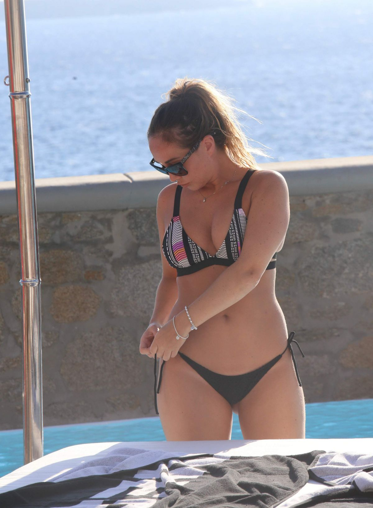 LAURYN GOODMAN in Bikini on Holiday in Mykonos 12/31/2016